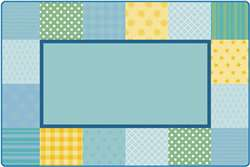 KIDSoft™ Pattern Blocks - Soft 4'x6' Rectangle Carpet, Rugs For Kids