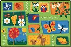 Natures Toddler Rug Rectangle 4'x6' Carpet, Rugs For Kids