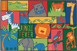 "Jungle Fever 3'x4'6"" Rectangle Carpet, Rugs For Kids"