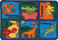 "Dino-mite Rug Rectangle 3'x4'6"" Carpet, Rugs For Kids"