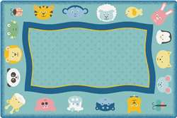 KIDSoft™ Quiet Time Animal Rug 6'x9' Rectangle Carpet, Rugs For Kids