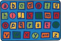 Alphabet Blocks Rectangle 4'x6' Carpet, Rugs For Kids