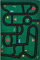 Go-Go Driving Rug Rectangle 4'x6' Carpet, Rugs For Kids