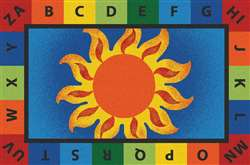 Alphabet Sunny Day Value Rug 4'x6' Rectangle Carpet, Rugs For Kids