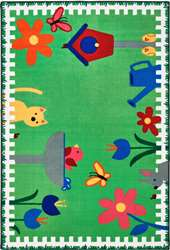 Garden time Rectangle 4'x6' Carpet, Rugs For Kids