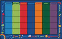 "Calendar Celebrations 7'6""x12' Rectangle Carpet, Rugs For Kids"