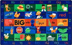 "Rhyme Time Rug  Rectangle 7'6""x12' Carpet, Rugs For Kids"
