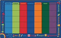 "Canadian Calendar Celebrations 7'6""x12' Rectangle Carpet, Rugs For Kids"