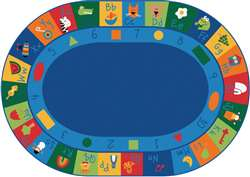 "Learning Blocks Oval 8'3""x11'8"" Carpet, Rugs For Kids"