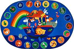 "Noah's Voyage Circletime Rug Oval 6'9''x9'5"" Carpet, Rugs For Kids"