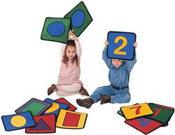 Shape/Number Squares Rectangle Set of 20 Carpet, Rugs For Kids