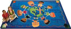 "Great Commission Childrens Rug Rectangle 7'8""x10'10"" Carpet, Rugs For Kids"