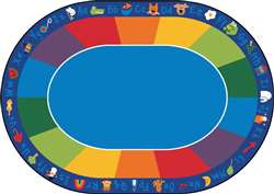 "Fun with Phonics Oval 8'3""x11'8"" Carpet, Rugs For Kids"