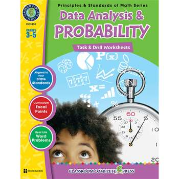 Gr 3-5 Math Task & Drill Data Analy & Probability, CCP3310
