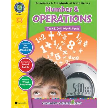 Gr 6-8 Math Task & Drill Number & Operations, CCP3312