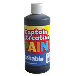 Captain Creative Black 16Oz Washable Paint By Certified Color