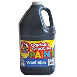 Captain Creative Black Gallon Washable Paint By Certified Color