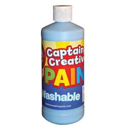 Captain Creative Light Blue 16Oz Washable Paint By Certified Color
