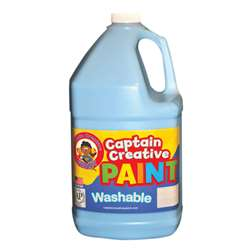 Captain Creative Light Blue Gallon Washable Paint By Certified Color
