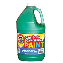 Captain Creative Green Gallon Washable Paint By Certified Color