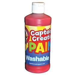 Captain Creative Red 16Oz Washable Paint By Certified Color