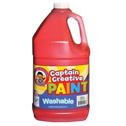 Captain Creative Red Gallon Washable Paint By Certified Color