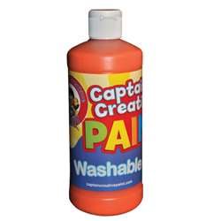 Captain Creative Orange 16Oz Washable Paint By Certified Color