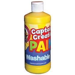 Captain Creative Yellow 16Oz Washable Paint By Certified Color