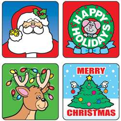 Stickers Christmas 120/Pk Acid & Lignin Free By Carson Dellosa