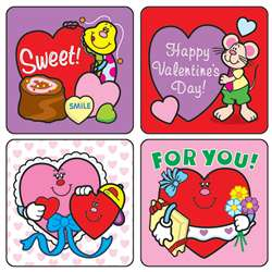 Stickers Valentines Day 120/Pk Acid Lignin Free By Carson Dellosa