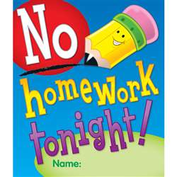 No Homework Tonight Coupons 24Pk By Carson Dellosa