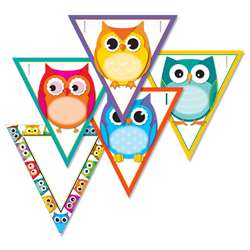 Colorful Owls Banners Gr Pk-12, CD-102038
