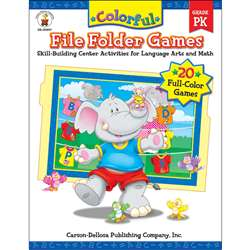 Colorful File Folder Games Grade Pk By Carson Dellosa
