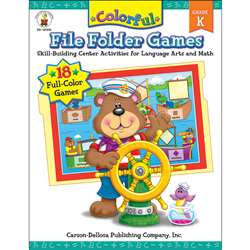 Colorful File Folder Games Grade K By Carson Dellosa
