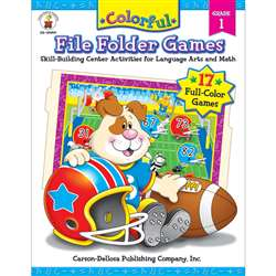 Colorful File Folder Games Grade 1 By Carson Dellosa