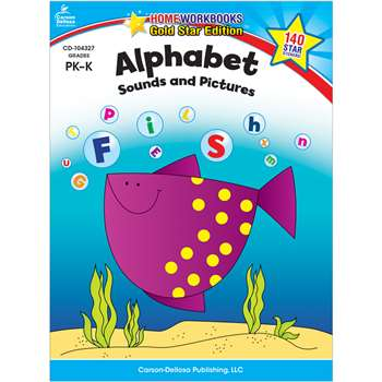 Alphabet Sounds & Pictures Home Workbook Gr Pk-K By Carson Dellosa