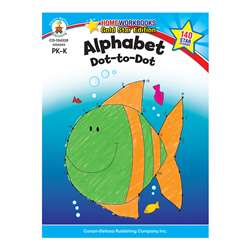 Alphabet Dot To Dot Home Workbook Gr Pk-K By Carson Dellosa
