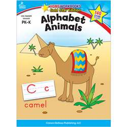 Alphabet Animals Home Workbook Gr Pk-K By Carson Dellosa