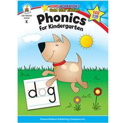 Phonics For Kindergarten Home Workbook Gr K By Carson Dellosa