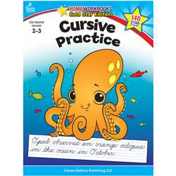 Cursive Practice Home Workbook Gr 2-3 By Carson Dellosa