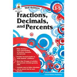 Skill Builders Fractions Decimals & Percents By Carson Dellosa