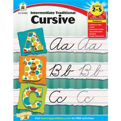 Intermediate Traditional Cursive Gr 2-5 By Carson Dellosa