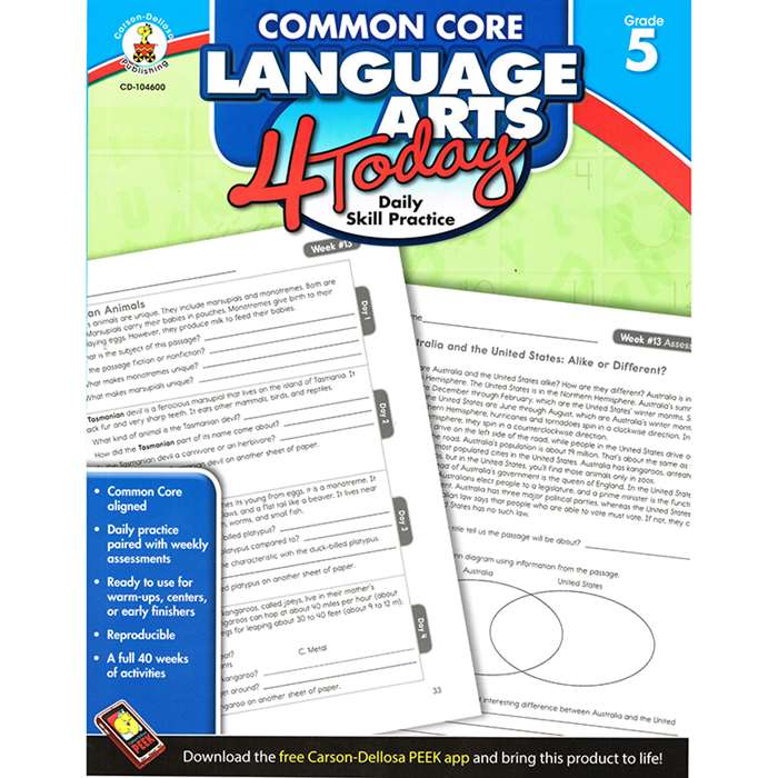 Language Arts 4 Today Gr 5 By Carson Dellosa