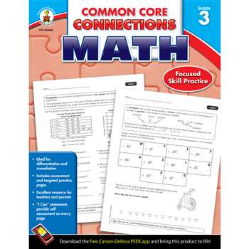 Shop Math Gr 3 Common Core Connections - Cd-104604 By Carson Dellosa