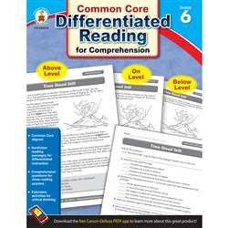 Shop Book 6 Differentiated Reading For Comprehension - Cd-104618 By Carson Dellosa