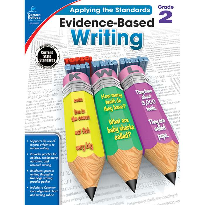 Gr 2 Applying The Standards Evidence Based Writing, CD-104825