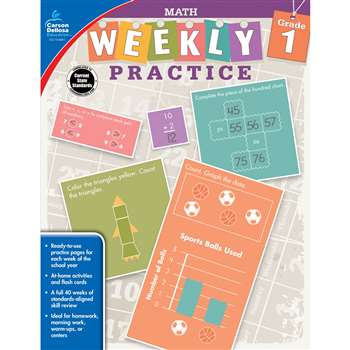 Weekly Practive Math Gr 1, CD-104881