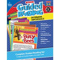 Guided Determine Importance Gr 3-4 Reading, CD-104962