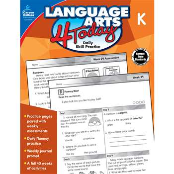 Language Arts 4 Today Kindergarten, CD-104976