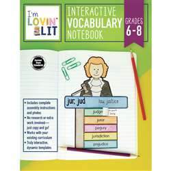 Im Lovin Lit Vocab Notebook Gr 6-8 Interactive, CD-105003